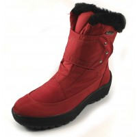 Pajar Women's Moscou 2 In Red Waterproof Nylon/Leather