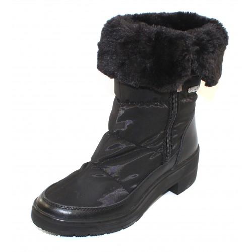 Pajar Women's Ventura In Black Waterproof Nylon/Waterproof Leather
