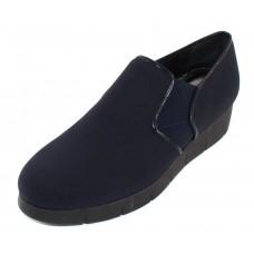 Pas De Noir Women's Helga R316 In Navy Blue Water-Repellant Lycra Stretch/Elastic/Leather