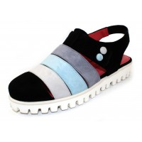 Pas De Rouge Women's Marta 1536 In Black Multi Suede