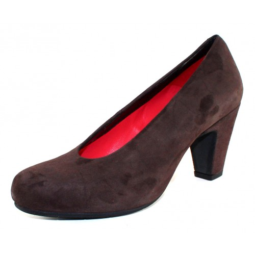Pas De Rouge Women's Nicla F201 In Ebano Dark Brown Suede