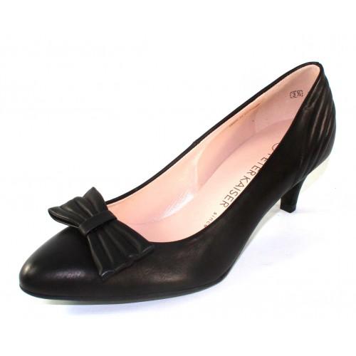 Peter Kaiser Women's Porcia In Black Foulard Leather
