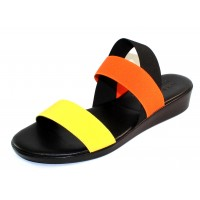 Rapisardi By Ron White Women's Harolyn In Lemon/Tangerine/Black Elastic