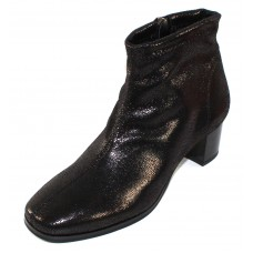 Rapisardi By Ron White Women's Odelle In Black Stretch Metallic Printed Synthetic Suede