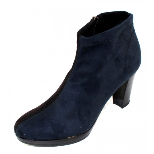 Rapisardi By Ron White Women's Vara In Jeans/Black Stretch Synthetic Suede