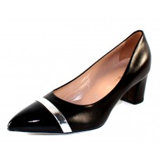 Ron White Women's Bonita In Onyx Black Nappa Leather/Patent Leather