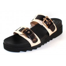 Ron White Women's Franice In Onyx Black/Ice Nappa Leather