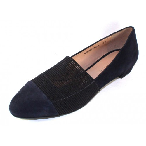 Ron White Women's Helsa In French Navy Waterproof Suede/Elastic