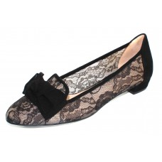 Ron White Women's Heide In Onyx Black Lace/Cashmere Suede