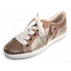 Ron White Women's May In Nude Nappa Leather/Soft Gloss Patent Leather/Lizard Stamped Calf/Mirror Trim
