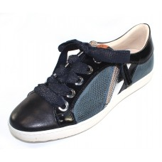 Ron White Women's May In Jeans Nappa Leather/Soft Gloss Patent Leather/Lizard Stamped Calf/Mirror Trim