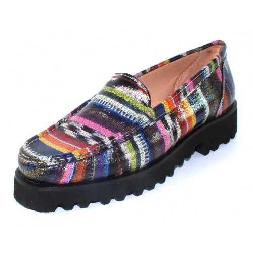 Ron White Women's Rita Penny In Southwest Multi Colored Embossed Leather