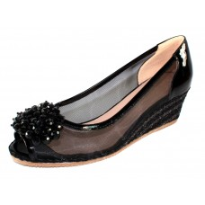 Ron White Women's Ritchie In Onyx Black Patent Leather/Mesh