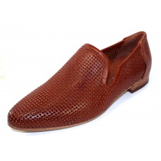 Ron White Women's Yara Perf In Cognac Perfed Nappa Leather