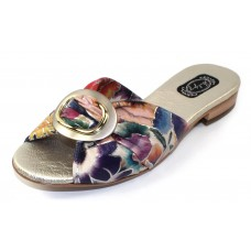Salpy Women's Jodi In Purple/Pink Floral Printed Suede