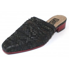 Salpy Women's Jules In Black Multi Snake Embossed Suede