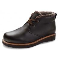 Samuel Hubbard Men's Winters Day Goretex In Espresso Brown Full Grain Leather/Black Ice Sole