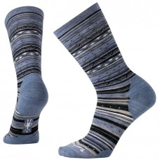 Smartwool Ethno Graphic Crew Socks In Blue Steel Heather Wool/Nylon