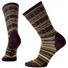 Smartwool Ethno Graphic Crew Socks In Bordeaux Heather Wool/Nylon
