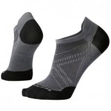 Smartwool Phd Run Ultra Light Micro Socks In Graphite/Black Wool/Nylon
