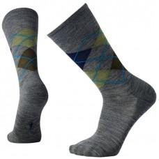 Smartwool Diamond Jim Socks In Deep Navy Heather/Medium Grey Heather Wool/Nylon