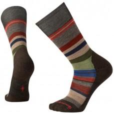 Smartwool Saturnsphere Socks In Chestnut/Fossil Wool/Nylon
