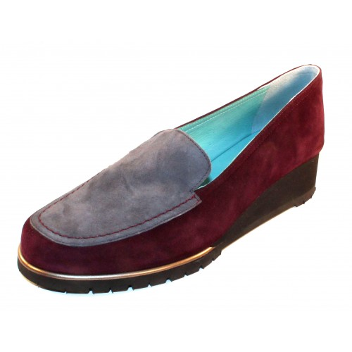 Thierry Rabotin Women's Crown In Burgundy/Grey Suede