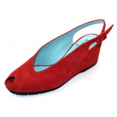 Thierry Rabotin Women's Calais In Red Suede