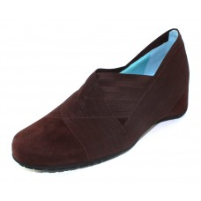 Thierry Rabotin Women's Claudine In Brown Suede/Elastic