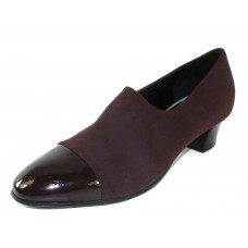Thierry Rabotin Women's Evon In Brown Patent Leather/Microfiber