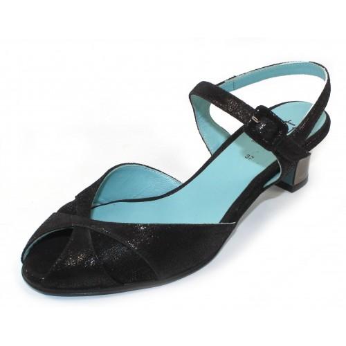 Thierry Rabotin Women's Fontana In Black Sparkle Suede/Mesh