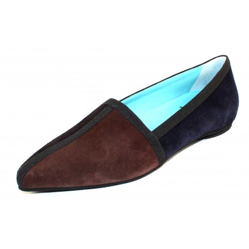 Thierry Rabotin Women's Marble In Brown/Black/Navy Blue Suede