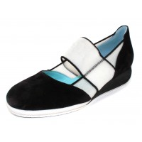Thierry Rabotin Women's Penley In Black Suede/White Stretch Mesh