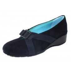Thierry Rabotin Women's Zita In Navy Suede/Taffeta Leather