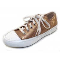 Vionic Women's Delight Edie Lace Up In Rose Gold Leather