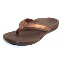 Vionic Women's Tide Ii In Bronze Metallic Leather/Fabric