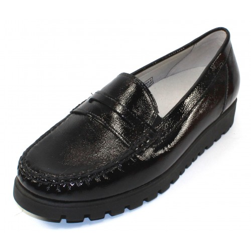 Waldlaufer Women's Eliza 549002 In Black Patent Leather