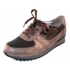 Waldlaufer Women's Odette 370004 In Steel Leather/Embossed Leather