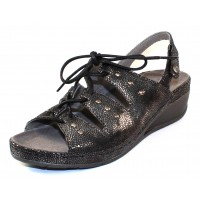 Wolky Women's Bombi In Black Caviar Leather