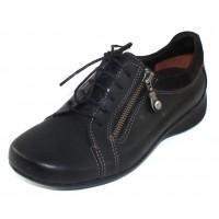 Wolky Women's Bonnie In Black Cartagena Leather