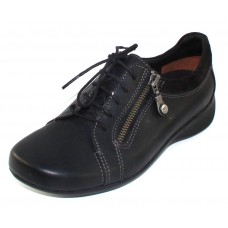 Wolky Women's Bonnie In Black Cartagena Leather