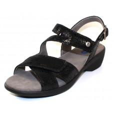 Wolky Women's Fria In Black Crash Suede