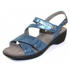 Wolky Women's Fria In Blue Amalia Nubuck