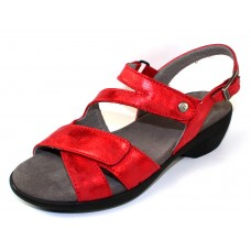 Wolky Women's Fria In Red Amalia Nubuck