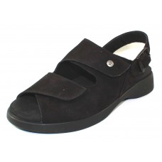 Wolky Women's Nimes In Black Nubuck