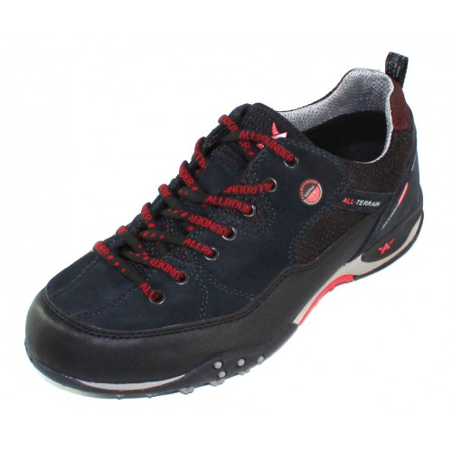Allrounder By Mephisto Men's Tacco Tex In Black Textile/Stone Suede/Mesh 1/61