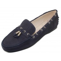 Amalfi By Rangoni Women's Demetrio In Navy Blue Bantus Embossed Suede