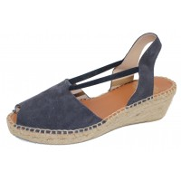 Andre Assous Women's Dainty In Navy Suede