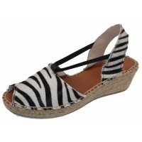 Andre Assous Women's Dainty In Zebra Printed Suede