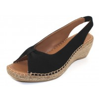 Andre Assous Women's Lace In Black Suede